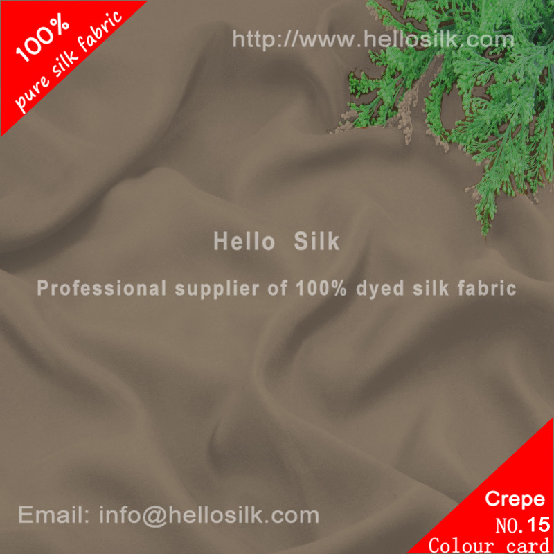 30mm Silk crepe de chine.