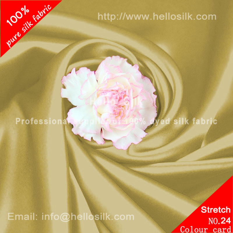 16mm silk stretch satin.